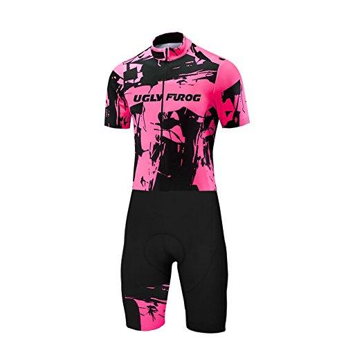 Uglyfrog 2017 Nueva Verano Hombres Camiseta De manga corta ciclismo Skinsuits con 3d GEL pad Bib Pantalones Cortos Ropa De Bicicleta De Carretera