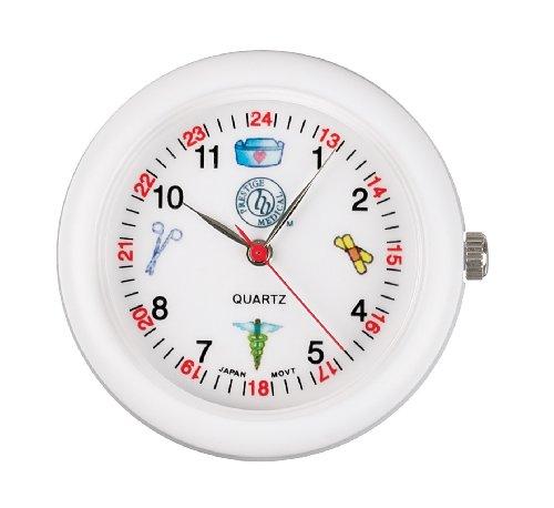 Prestige Medical 1689-WHT - Reloj para estetoscopio, color blanco