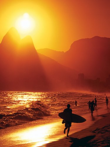 Spiaggia di Ipanema Pyramid International Stampa su Tela, 60 x 80 cm