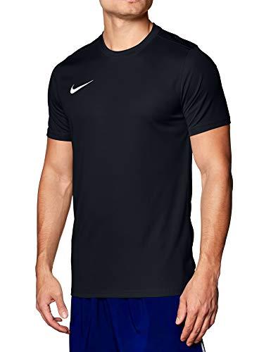 NIKE M Nk Dry Park VII JSY SS Camiseta de Manga Corta, Hombre, Negro (Black/White), L