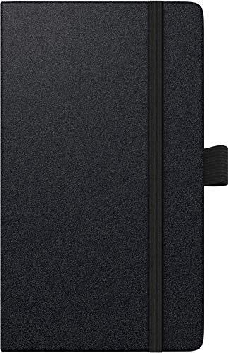BRUNNEN 1075666901 Taschenkalender/Wochen-Sichtkalender Modell 756 Kompagnon, 2 Seiten = 1 Woche, 8,7 x 15,3 cm, Baladek-Einband schwarz, Kalendarium 2021