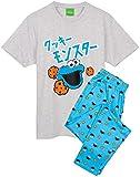 Sesame Street Cookie Monster Pajamas Mens Muppet Camiseta y Pantalones PJS