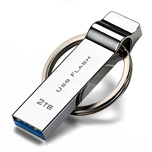 2000GB USB 3.0 Flash Drive 2TB, 2000GB Ultra High Speed 2000GB Memory Stick 3.0 with Rotated Design - Read & Write Speads up to 100MB/S, USB 3.0 Thumb Drive 2TB Compatible with Computer/Laptop