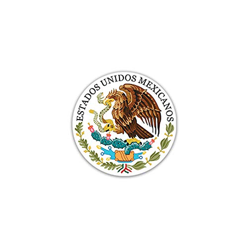 Aufkleber/Sticker Seal of Mexico Golden Eagle Mexiko Politik Kultur 7x7cm#A2211