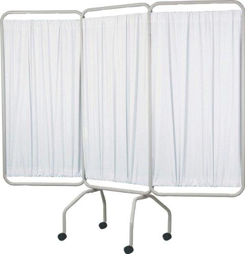 Medline MDS80450 3-Panel Flame Retardant Vinyl Privacy Screens