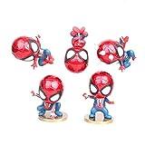 JGUSVYT Spider-Man Set Super Hero Action Figure Anime Personnage Modèle Jouets Marvel Spiderman Figurines Ensembles Collection d'anniversaire pour Enfants 10 Cm (4 ``)