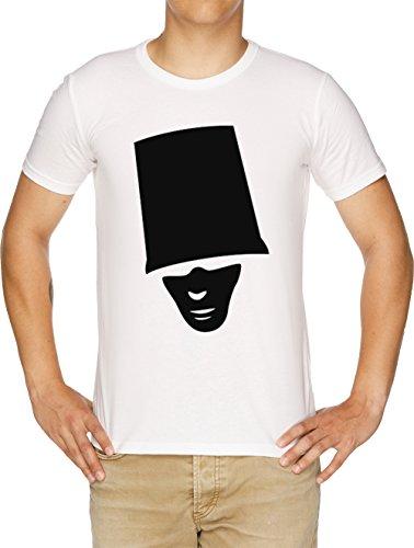 Buckethead Herren T-Shirt Weiß