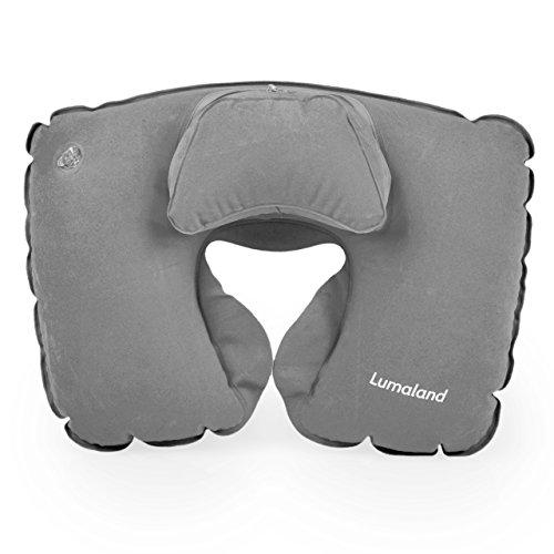 Lumaland Cuscino da viaggio extra Comfort gonfiabile in grigio