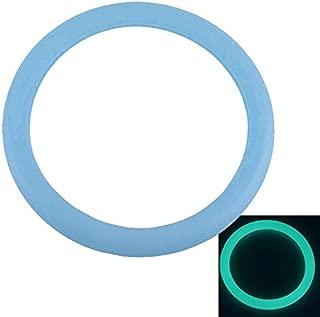 Eachbid Car Steering Wheel Glove Cover Food Grade Silicone Flourescent Blue