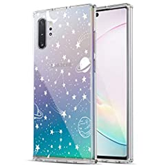 [Compatible with]: Samsung Galaxy Note 10 Plus / Galaxy Note 10 Plus 5G. [Crystal Clear]: The crystal clear transparent case for galaxy note 10 plus reserved the original phone color with unique design print, perfectly show the beauty of your Phone. ...