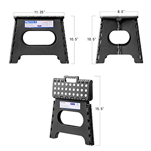 Acko Folding Step Stool Lightweight Plastic Step Stool - 11