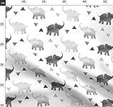 Silber, Grau, Elefanten, Dreiecke, Geometrisch, Elefant