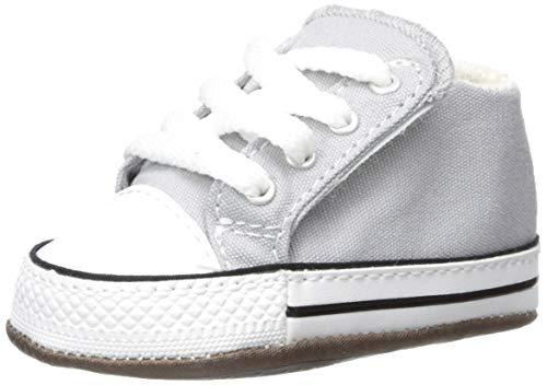 Converse Baby Kinder Schuhe CT All Star Cribster Mid Grau Leinen Größe 19 EU