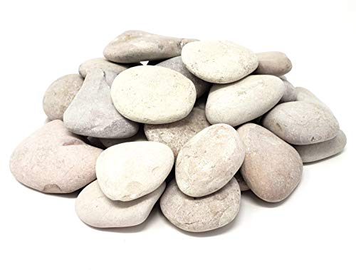 Capcouriers Abstract Painting Rocks (Bulk) - Abstract Shape River Rocks for Painting - Smooth Landscaping Rocks - Rock Painting - 20 to 25 Rocks