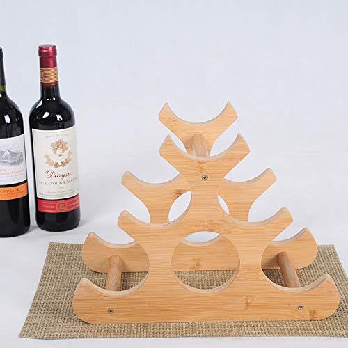 Botellero Madera Estantería De Vino Botelleros 6 Botellas Botellero Vino Vertical, para Decoración Comedor, Hogar,B