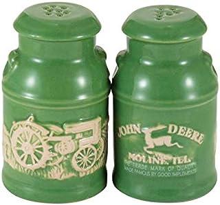 John Deere Raised-Relief Milk Can Salt & Pepper Set