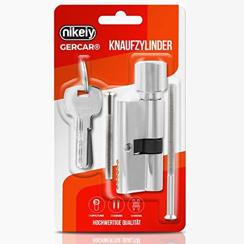 GERCAR Cilindro de cerradura de cilindro 30/30, incluye 5 llaves – Individual – Longitud: 60 mm, A: 30 B: 30 – 1 juego