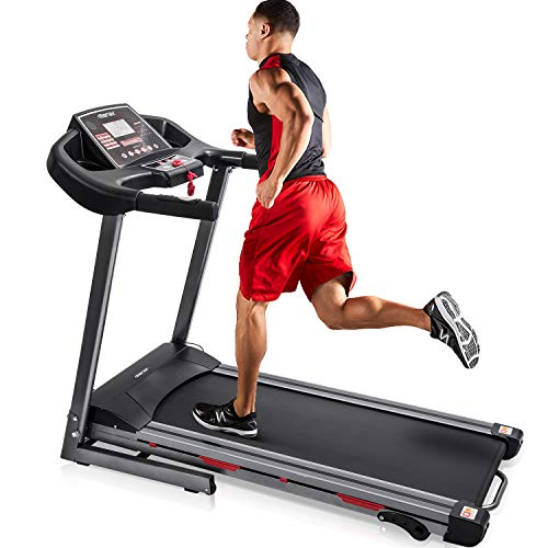 Merax Folding Treadmill for Home Use, Easy Assembly Compact Running Machine (1.5HP)