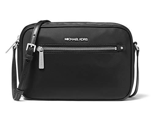 "100% Nylon with Silver Tone Hardware Zipper Closure Exterior Zipper Pocket Interior Front Slip Pocket and Back Slip Pocket 10""W X 6.75""H X 2.75""D; Adjustable Leather Shoulder Strap"