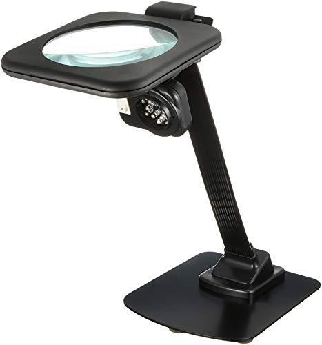TSK スタンドルーペ 倍率2倍 レンズ径128mm LEDライト付き 日本製 RX-128ML