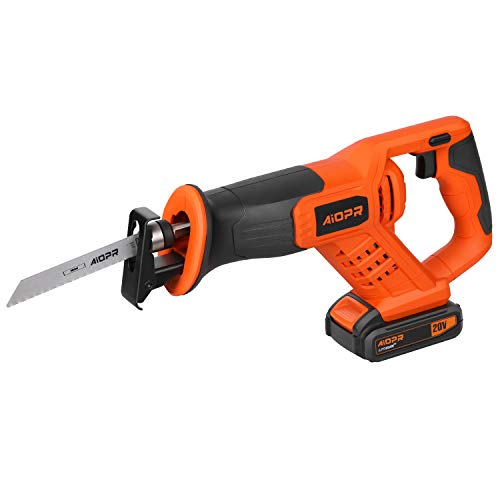 AIOPR 20V Cordless Reciprocating Saw with 5 Blades (97705)