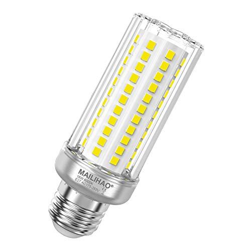 1er-Pack, Kaltweiß 6000K 16W E27 LED Maiskolben Birne 1900LM, Ersetzt Glühbirnen 120Watt 150Watt, Nicht dimmbar E27 Mais LED Lampe, Energiesparlampe Kleine Edison-Schraube Leuchtmittel E27