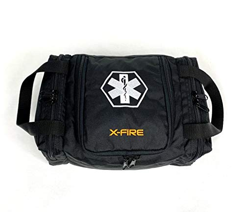 X-FIRE EMS/EMT Empty First Responder Trauma Bag 12' x 8' x 5.5' - Black