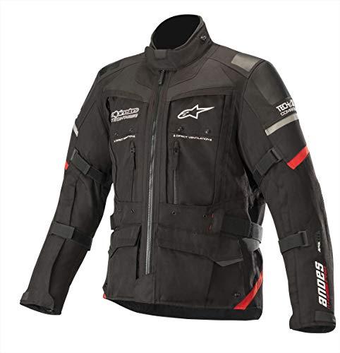 Alpinestars Motorradjacken Andes Pro Drystar Jacket Tech-air Compatible Black Red, Schwarz/Rot, XXL