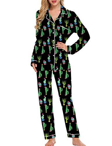 Fanient Mujeres Cactus Graphic Funny Cute Crop Tops y