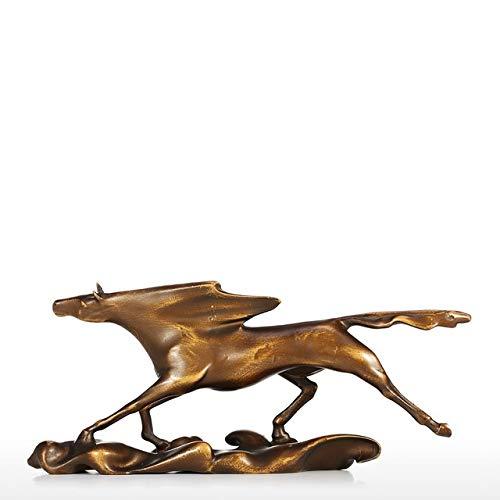 JYDQM Escultura Moderna Surf Chasing Wild Galloping Horse Figura Estatua Regalos y decoración Tres Colores Decoración del hogar (Color : B)