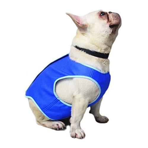 Chaqueta de Chaleco de enfriamiento para Mascotas, Abrigos de arnés para enfriamiento de Hielo para Perros, Chaleco para refrigerador de Mascotas con Cinta mágica para Cachorros Perros
