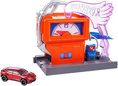 Mattel Hot Wheels-Carreras en la gasolinera, pistas de coches de juguete niños +4 años, multicolor FMY97 , color/modelo surtido
