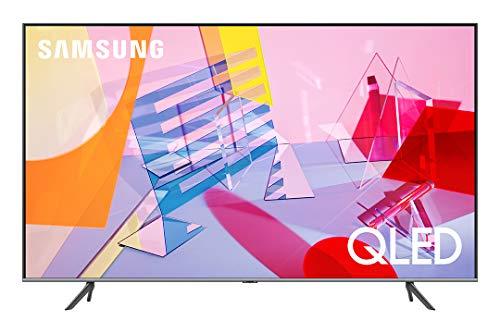 """Samsung TV QE75Q64TAUXZT Serie Q60T Modello Q64T QLED Smart TV 75"""", con Alexa integrata, Ultra HD 4K, Wi-Fi, Titan Grey, 2020, Esclusiva Amazon"""