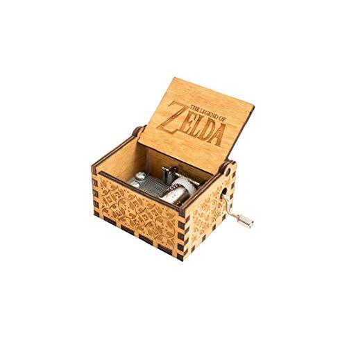 LAANCOO Zelda Caja De Música Clásica De Madera Caja De Música Regalo De Cumpleaños De La Manivela Clásico Tallado Antigüedad Accionado a Mano Decorativa Caja De Música Clásica Talla Música