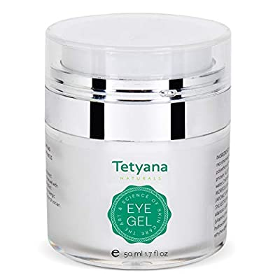 Tetyana naturals Eye Gel with Allantoin, Hyaluronic acid for Puffiness, Wrinkles, Dark Circles (50ml)