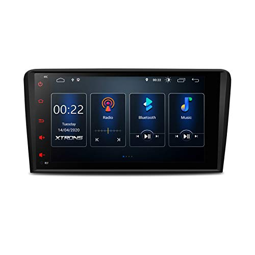XTRONS 8 Android 10.0 Autoradio mit Touchscreen Quad Core 2GB RAM 16GB ROM Multimedia Player mit DSP voll RCA Ausgang 4G WiFi Bluetooth DAB OBD2 TPMS Musik Streaming FÜR Audi A3 S3 RS3