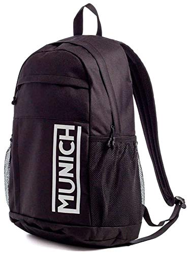 Munich Backpack Slim Gym Sports Black, Adultos Unisex, Negro, Talla única
