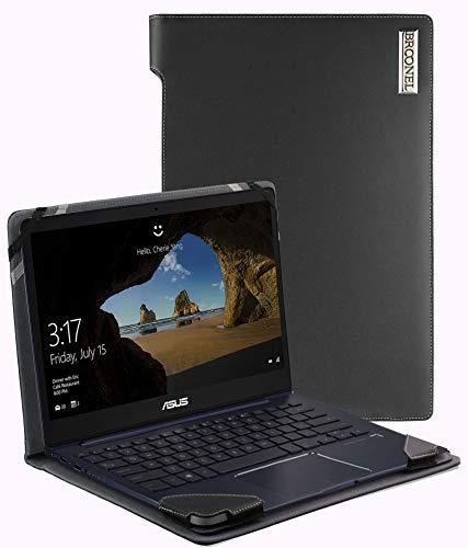 Broonel - Serie de perfiles - Estuche para De Cuero Negro Compatible con La ASUS ZenBook 13 UX331UN