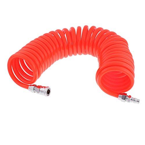 Manguera de aire en espiral de poliuretano de 9 metros de longitud, 12 mm x 8 mm, naranja DE de