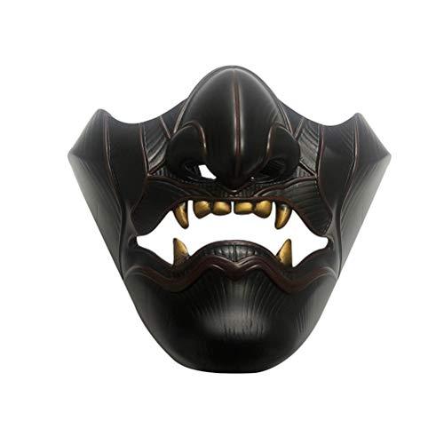 WBTY Halloween Geist Maske, Game Character Tsushima Maske Cosplay, Halloween Cosplay Halbgesichtsmaske Spielcharakter Ghost Face Mask