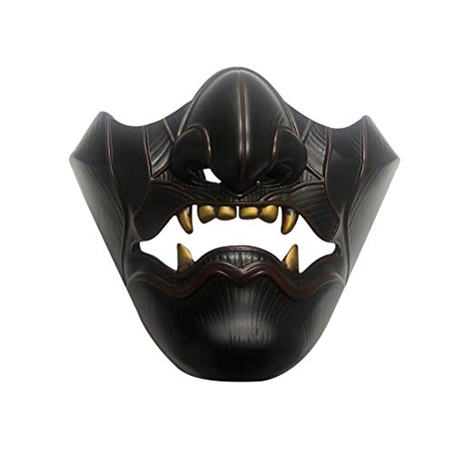 YEKKU Spiel Ghost of Tsushima Mask, Halloween Cosplay Halbgesichtsmaske, Halloween Requisiten Dekorationen Unisex Devil Mask