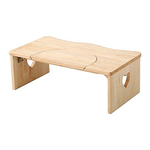 かわいい トイレ 子ども踏み台 ナチュラル(木製・折りたたみ式・36.5cm)ハート柄で子供や女の子に人気