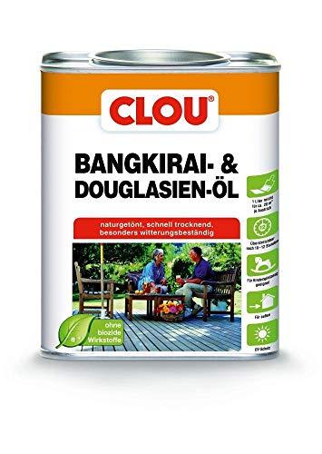 Clou Bangkirai Holzöl: Schutz, Pflege & Auffrischung für Aussen, Kinderfreundlich, UV-Schutz, 750 ml