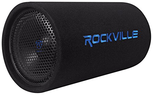 Rockville 10' 500w Powered Subwoofer Tube + Bass Remote, 10 inch (RTB10A)