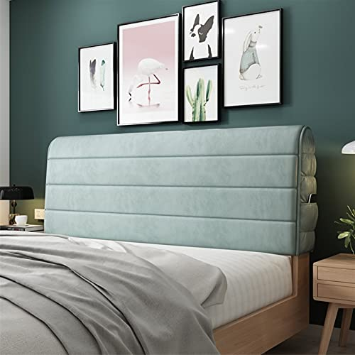 GZGLZDQ Cabecero De Cama Elástico Funda Protectora De Muebles Funda Antipolvo Extraíble Lavable Algodón Grueso para La Decoración del Dormitorio (Color : Verde, Tamaño : 220x60cm)