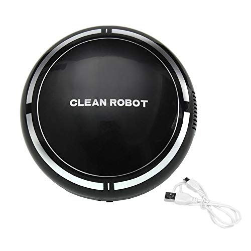 USB Recargable Smart Clean Robot Aspirador automático de Piso Limpiador de Barrido Recolector de Polvo doméstico de bajo Ruido - Negro