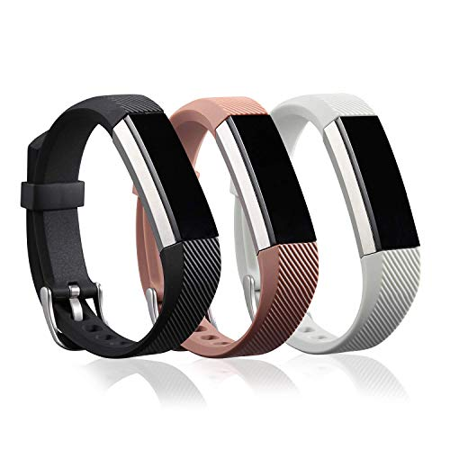 I-SMILE Colorful Replacement Bands with Metal Clasps for Fitbit Flex with Silicon Fastener Ring