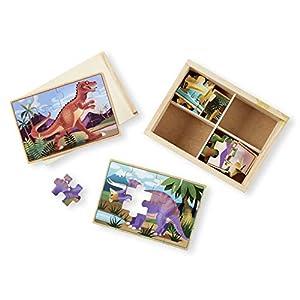 Melissa & Doug Wooden Jigsaw Puzzles in a Box - Dinosaur from Melissa Doug