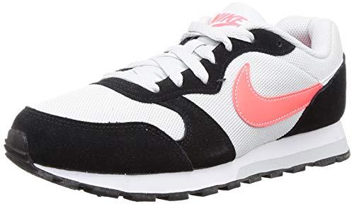 Nike MD Runner 2 ES1, Zapatillas de Trail Running Hombre, Multicolor (Pure Platinum/Flash Crimson/Black/White 1), 43 EU