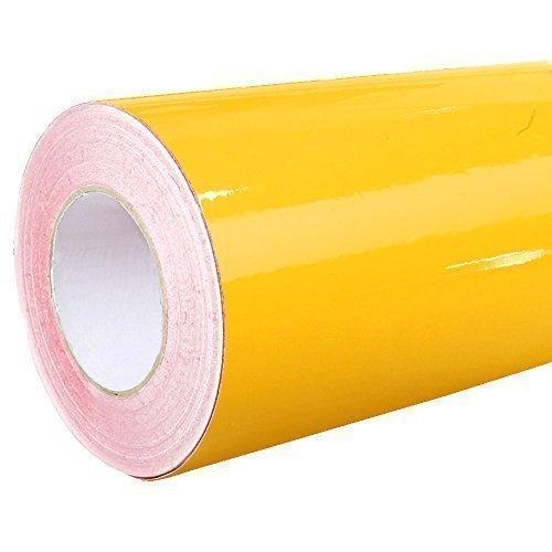 4,41€/m² Rapid Teck® Glanz Folie - 020 GoldGelb Gelb - Klebefolie - 5m x 63cm - Plotterfolie - selbstklebende Folie - auch als Moebelfolie - Dekofolie